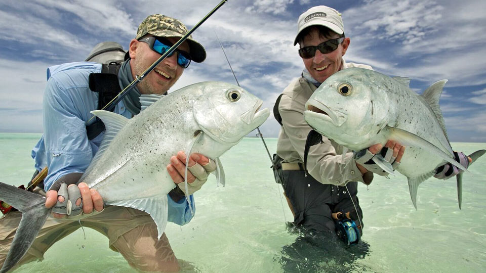 Two Anglers with Giant Trevally