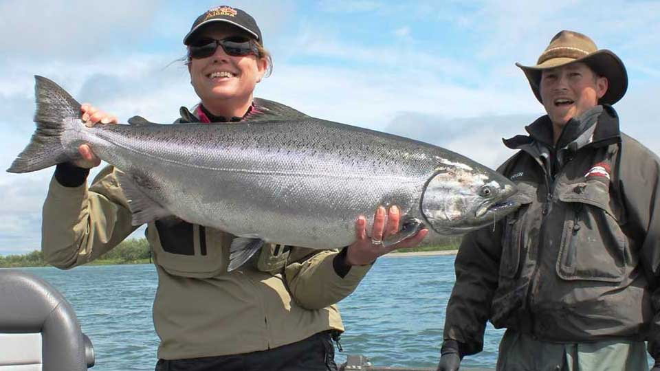 Angler with Bright Togiak King