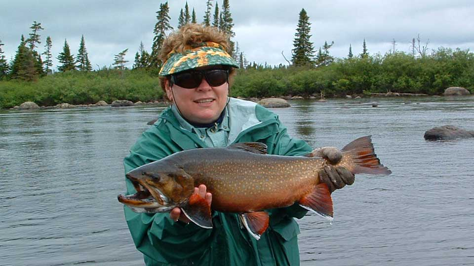 Diane with nice brook trout