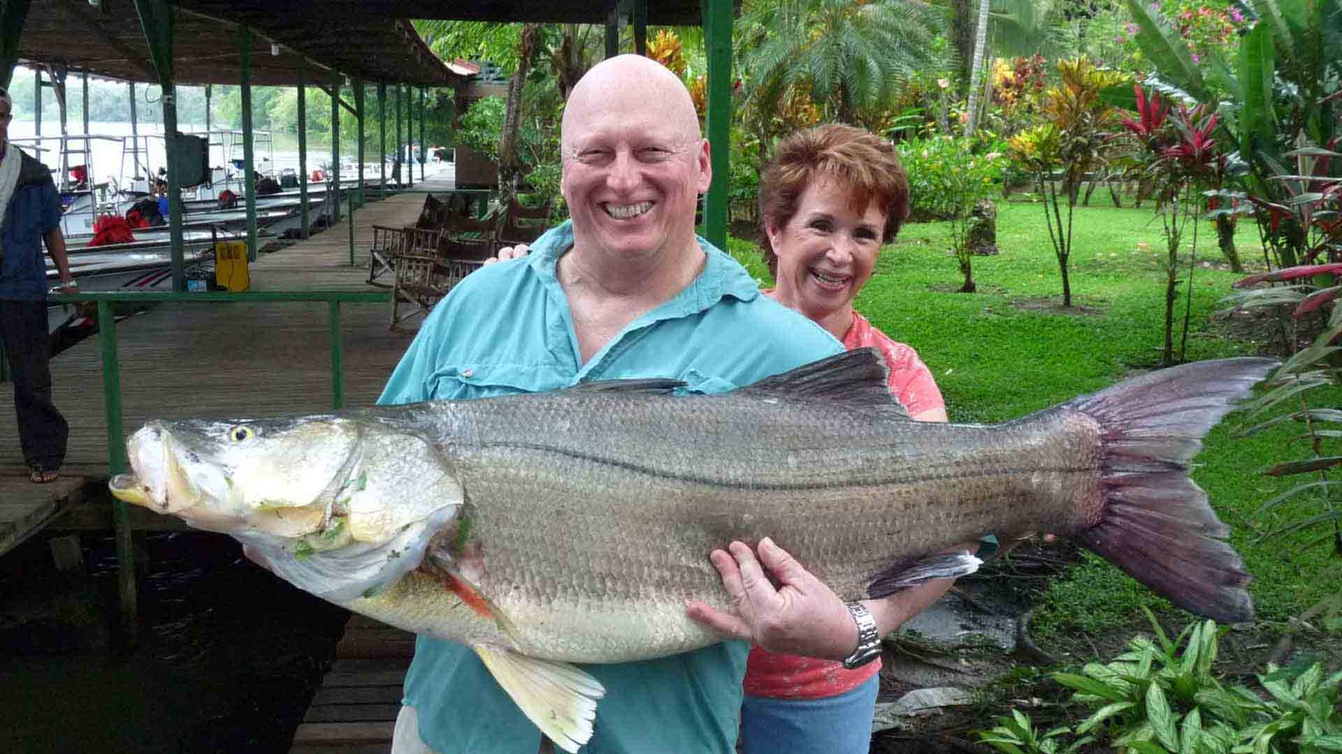 Judy with World-Record Snook