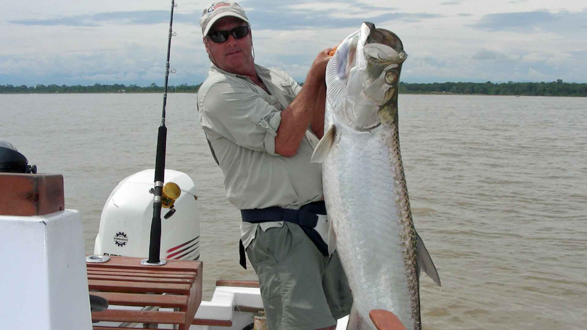 Angler with Large Tarpon