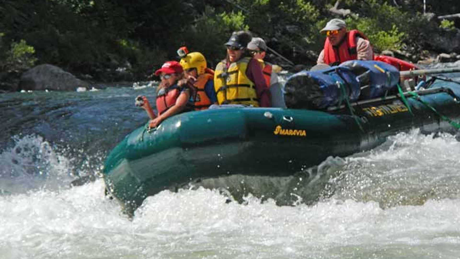 Rafting through Whitewater