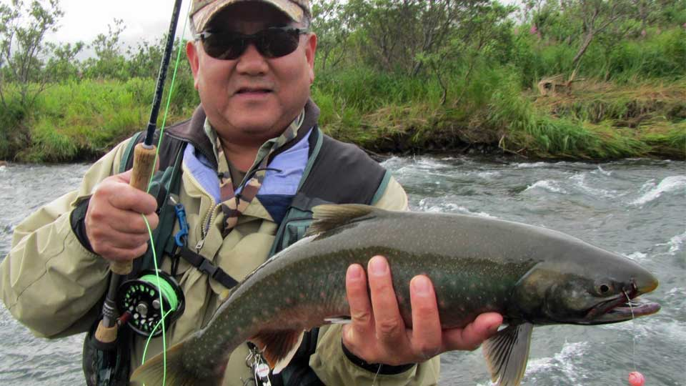 Alaska dolly varden fishing