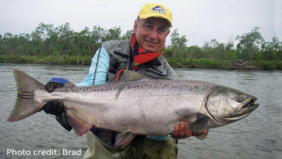 Jim Teeny with Nushagak King Salmon