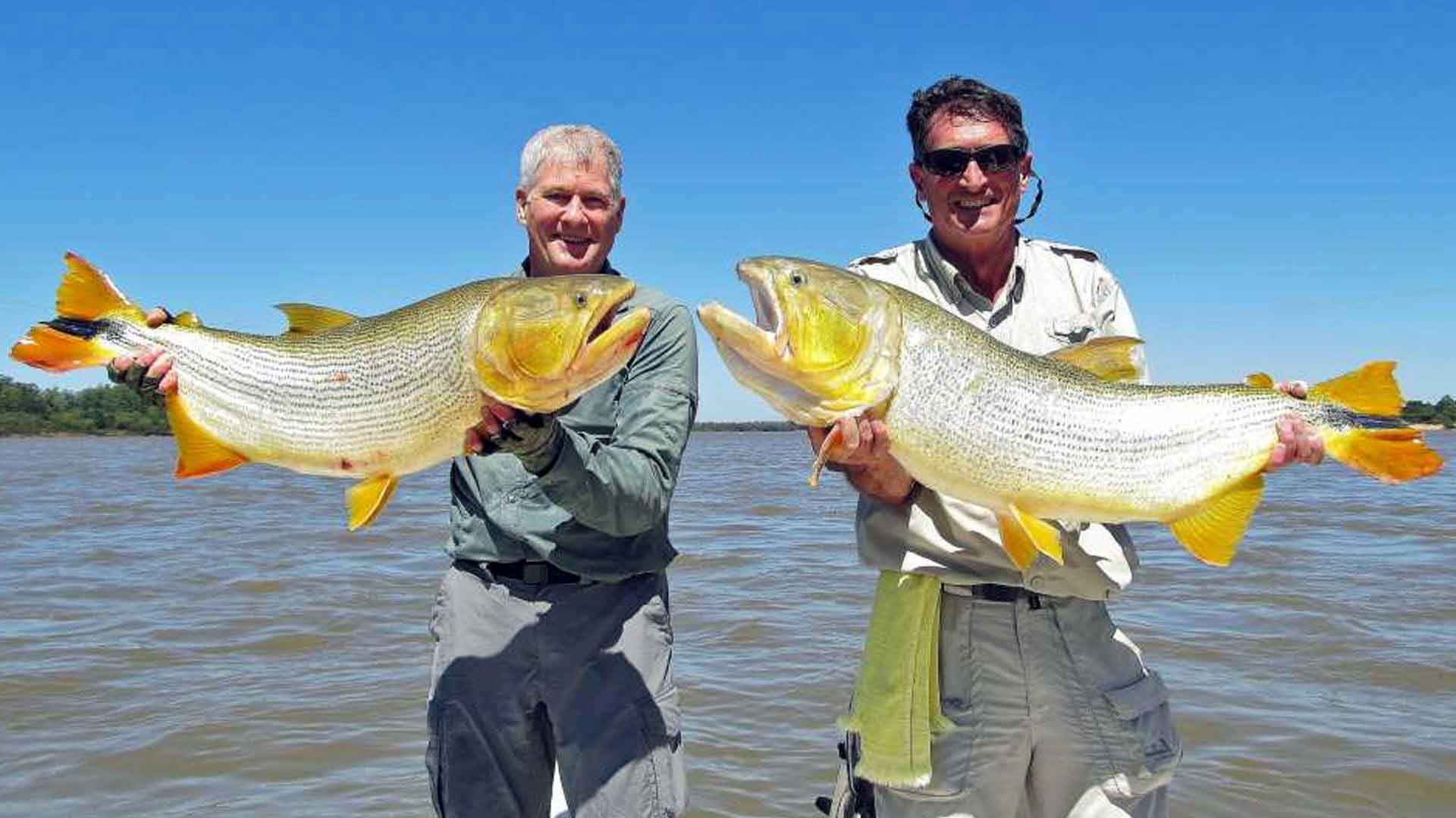Mike Sadar with golden dorado