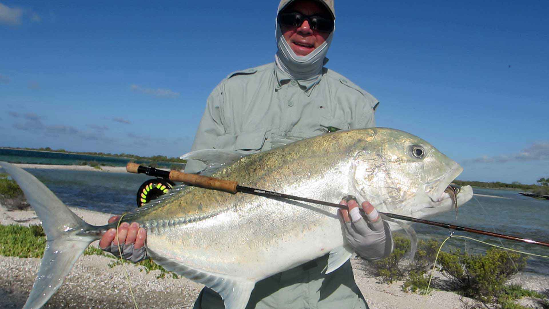Christmas Island giant trevally fishing