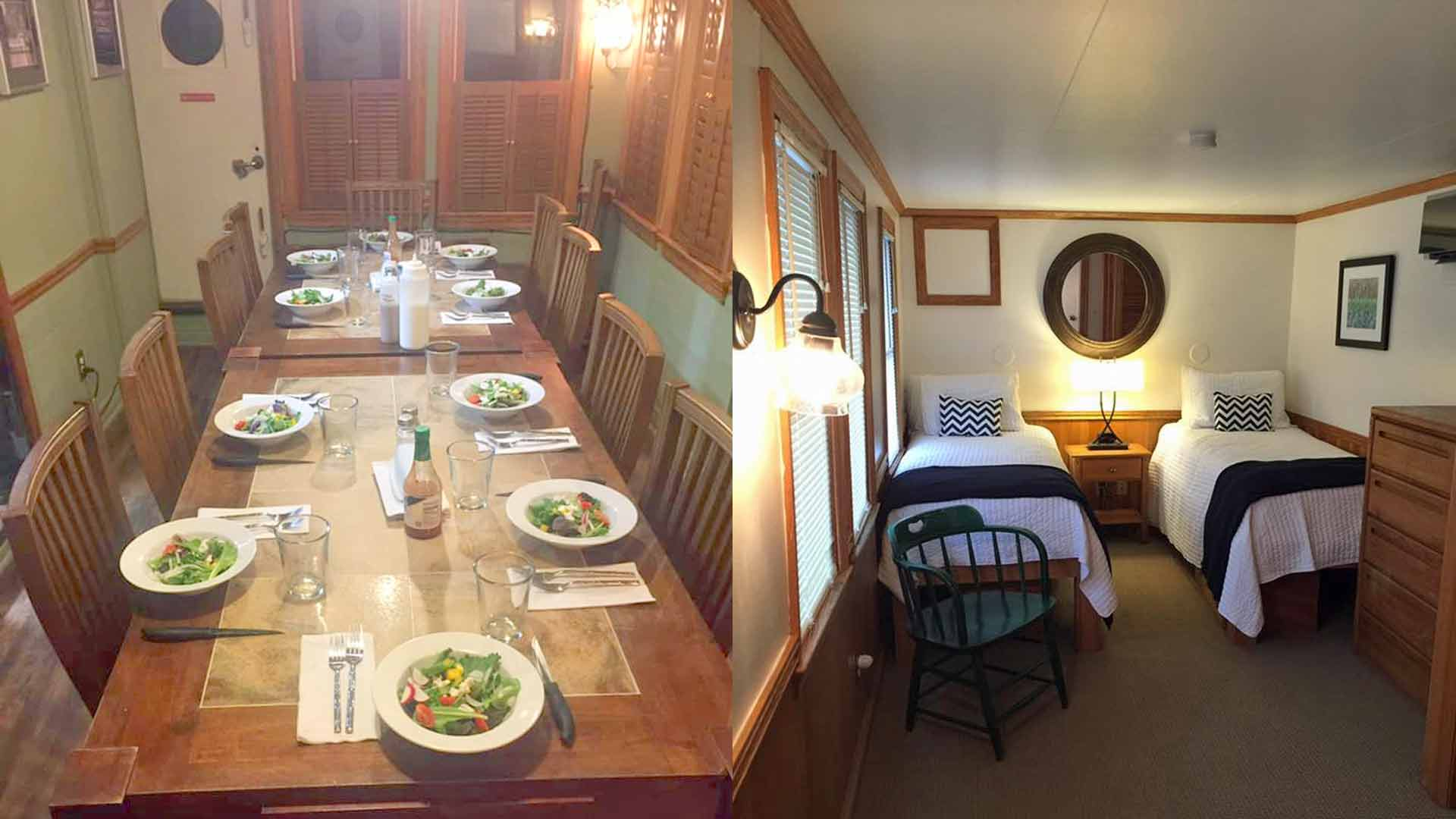 Dining Room and a Cabin Bedroom