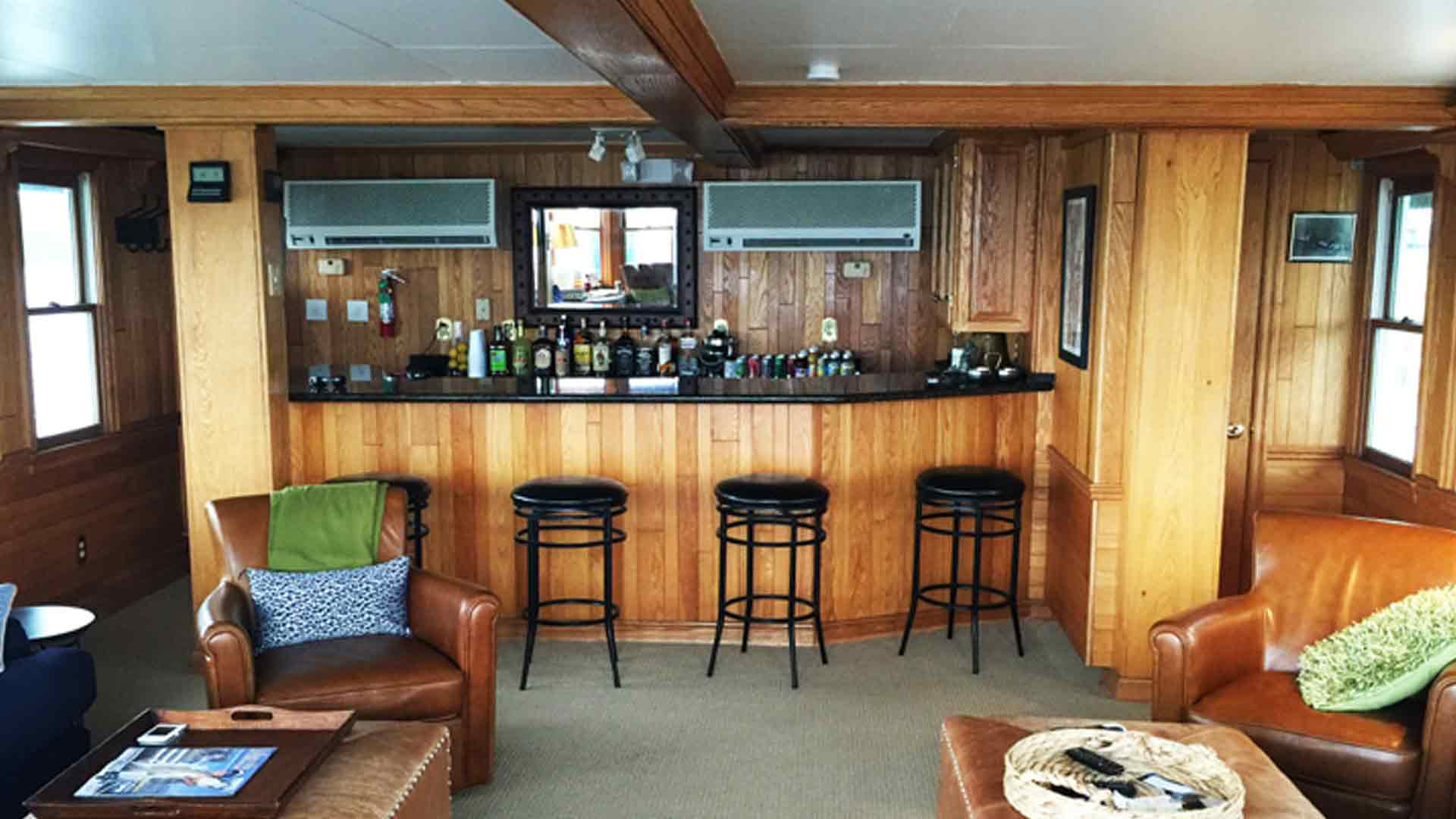 Self-Serve Bar in the Lounge