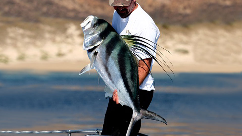 Angler holding Roosterfish