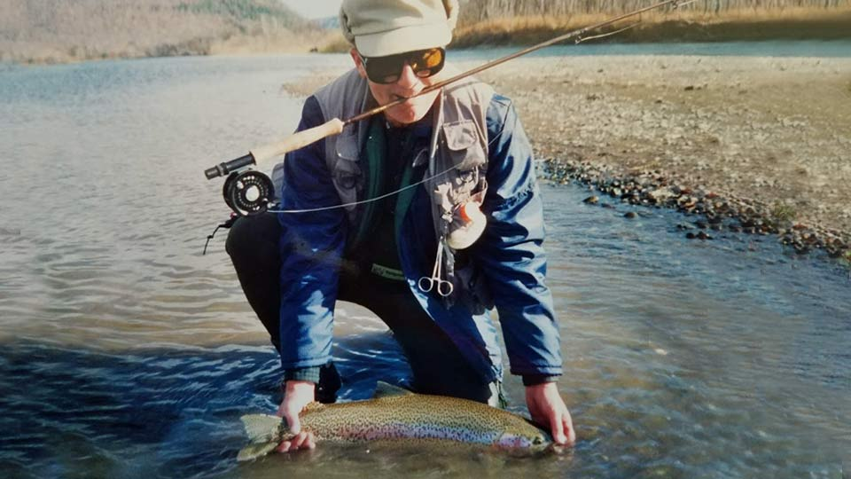 Larry Schoenborn Rainbow Fishing
