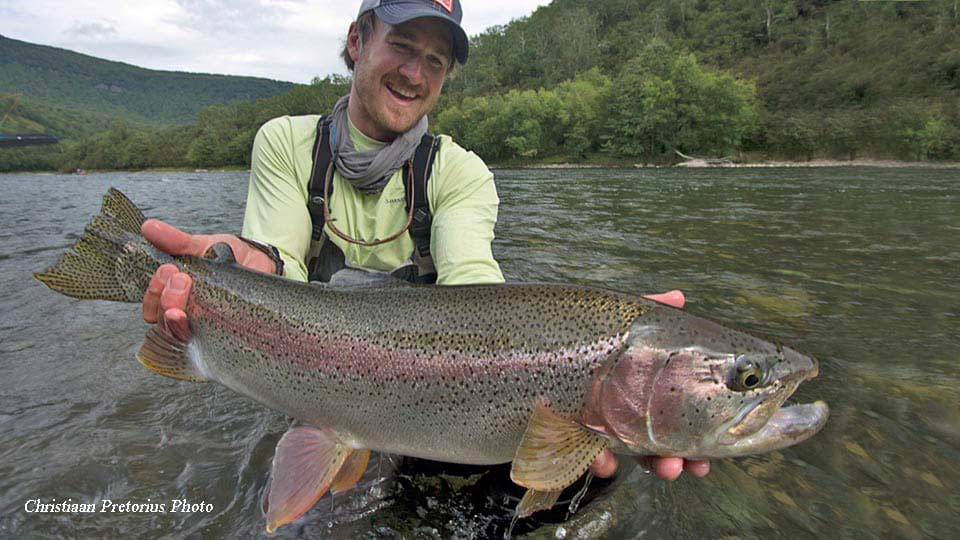 Kamchatka rainbow Fishing