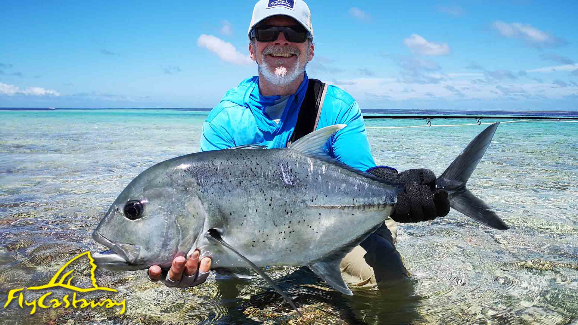 Bruce Tyson with Giant Trevally