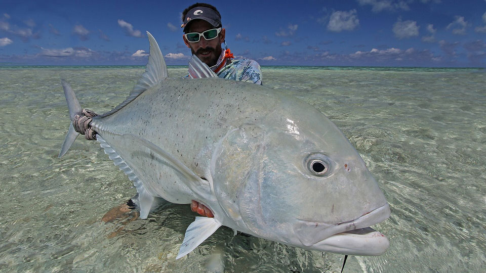 Giant trevally fishing St. Bradon's